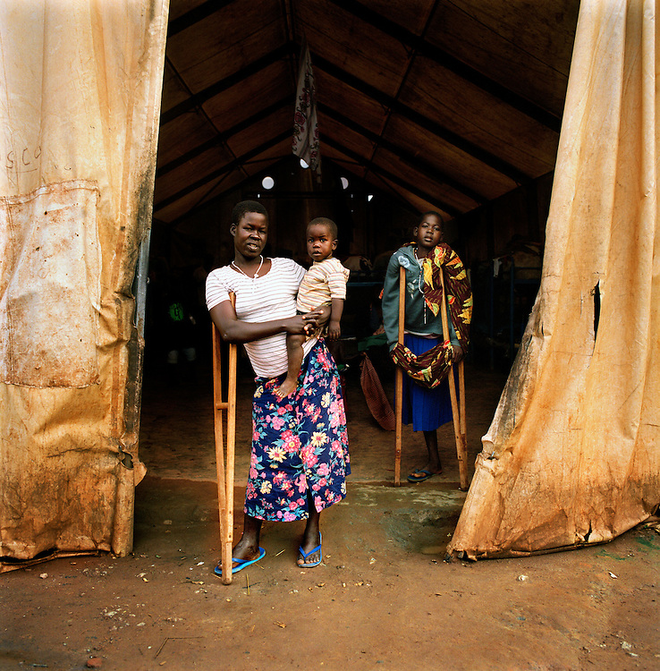 Women and Children who were abducted by the Lord's resistance army in Save the children supported  Gusco rehabilitation centre in Gulu, North Uganda.