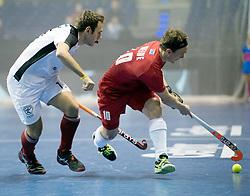 BERLIN - Indoor Hockey World Cup<br /> Quarterfinal 2: Austria - Poland<br /> foto: Florian Steyrer and Philipp Weide <br /> WORLDSPORTPICS COPYRIGHT FRANK UIJLENBROEK