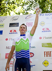 Second placed Grega Bole  (SLO) of Slovenian National Team at ceremony after the 2nd stage of Tour de Slovenie 2009 from Kamnik to Ljubljana, 146 km, on June 19 2009, Slovenia. (Photo by Vid Ponikvar / Sportida)