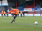 Dale Kennedy fires home the winning penalty for the United fans - Dundee fans v Dundee United fans in the Rivals4Charity annual match at Dens Park <br /> <br />  - &copy; David Young - www.davidyoungphoto.co.uk - email: davidyoungphoto@gmail.com