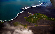 Most of the Kapoho area including the tide pools is now covered in fresh lava with few properties still intact as the Kilauea Volcano lower east rift zone eruption continues on Wednesday, June 6, 2018, in Hawaii. Photo by L.E. Baskow/LeftEyeImages