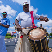 A marchers plays a drum during the Inaugural India Day Parade Saturday. August. 18, 2012. in Hockessin Delaware...Indian's around the world celebrates india's 65th anniversary of india's independence from British rule and the country's birth as a sovereign nation on August 15, 1947.