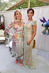 Left to right, Mollie King and Frankie Bridge at the Glamour Women of The Year Awards 2017 in association with Next held in Berkeley Square Gardens, London England. 6 June 2017.