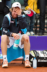 Blaz Kavcic of Slovenia after winning the final match against David Goffin of Belgium during day five of the ATP Challenger  BMW Ljubljana Open 2010, on September 26, 2010,  in TC Ljubljana Siska, Slovenia. Kavcic defeated Goffin 6:2, 4:6, 7:5.  (Photo by Vid Ponikvar / Sportida)