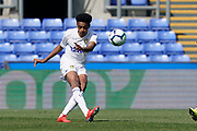 Bryce Hosannah of Leeds United U23 in action during the U23 Professional Development League match between U23 Crystal Palace and Leeds United at Selhurst Park, London, England on 15 April 2019.