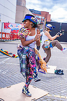 Folk Dance Remix: Step Hop House the Maypole at Theatre Square, Stratford, London 8th September 2013. Part of Stratford Rising, this fusion of modern street dance with traditional English dance is an energising and engaging watch, to be repeated at Stratford Circus 12th and 13th September and touring the UK.
