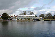 """Henley on Thames. United Kingdom.  General View across at """"Phyllis Court Club"""". the River Thames at the Oxfordshire. Henley Reach.   <br /> <br /> Saturday  28/01/2017<br /> <br /> © Peter SPURRIER<br /> <br /> LEICA CAMERA AG  LEICA Q (Typ 116)  f4  1/1250sec  28mm  3.6MB"""
