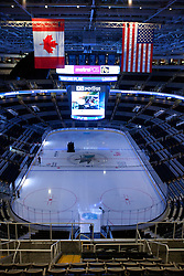 Dec 1, 2011; San Jose, CA, USA; General view of the interior of HP Pavilion before the game between the San Jose Sharks and the Montreal Canadiens.  San Jose defeated Montreal 4-3 in shootouts. Mandatory Credit: Jason O. Watson-US PRESSWIRE