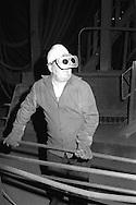 Steelworker in melting shop British Steel Templeborough.