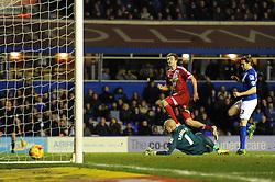 Middlesbrough's Patrick Bamford scores a goal. - Photo mandatory by-line: Dougie Allward/JMP - Mobile: 07966 386802 - 18/02/2015 - SPORT - Football - Birmingham - ST Andrews Stadium - Birmingham City v Middlesbrough - Sky Bet Championship