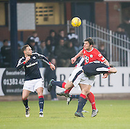 St Mirren&rsquo;s John Sutton out muscles Dundee&rsquo;s Julen Etxabeguren - Dundee v St Mirren in the William Hill Scottish Cup at Dens Park, Dundee. Photo: David Young<br /> <br />  - &copy; David Young - www.davidyoungphoto.co.uk - email: davidyoungphoto@gmail.com