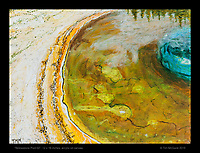"""Yellowstone Pool 02"", 12 x 16 inches, acrylic on canvas.  © Tim McGuire 2015"