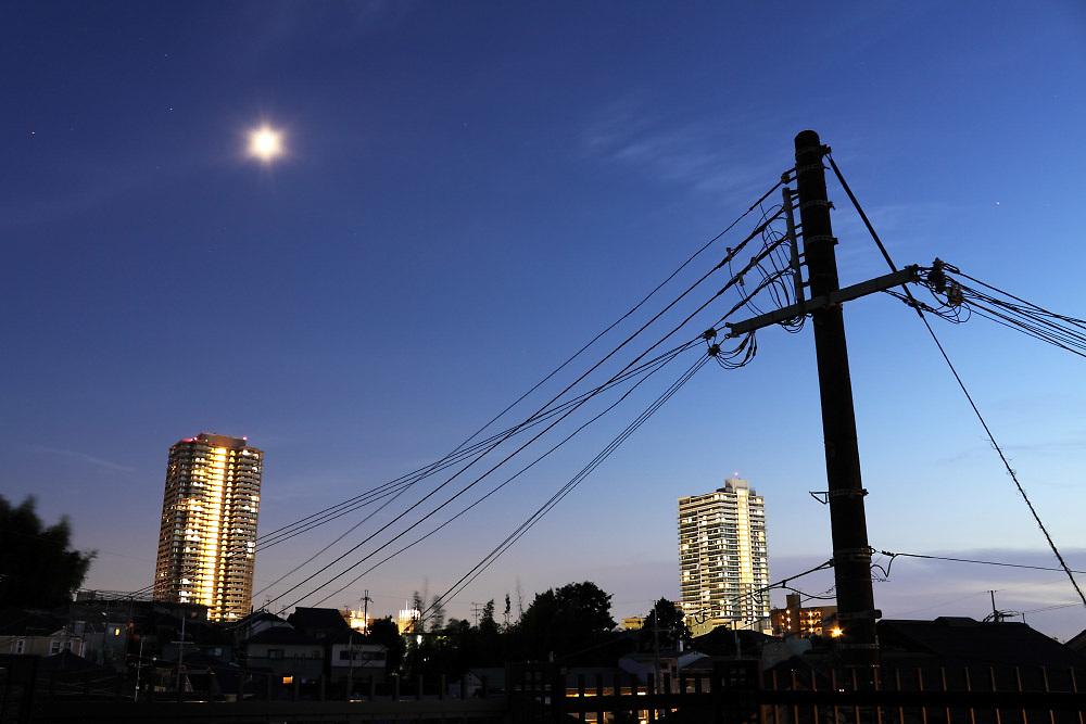 Osaka suburbs by night