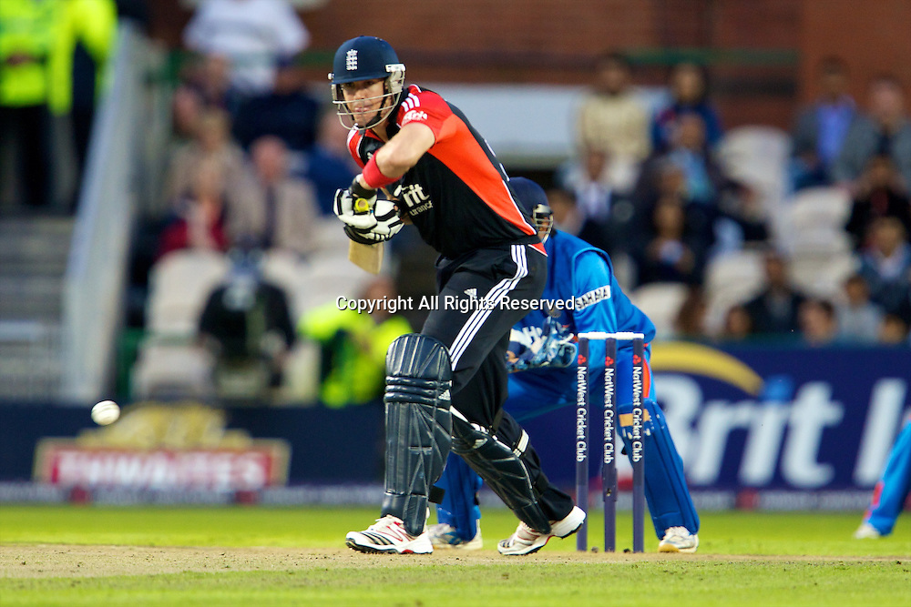 31.08.2011 Natwest International T20 England v India from Old Trafford. Kevin Pietersen batting.