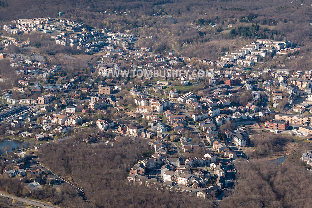 Kiryas Joel, New York - An aerial view of part of the Hasidic village of Kiryas Joel in the Town of Monroe on April 20, 2016.