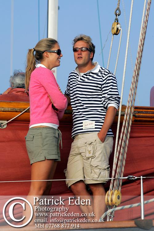 Ben Fogle, aboard, Jolie Brise, 2005, Round the Island Race, Sports Photography