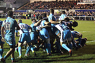 Mark Bright (far right) peels off the back of the rolling maul to score his second try during the Green King IPA Championship match between London Scottish &amp; Worcester at Richmond, Greater London on 20th December 2014<br /> <br /> Photo: Ken Sparks | UK Sports Pics Ltd<br /> London Scottish v Worcester, Green King IPA Championship, 20th December 2014<br /> <br /> &copy; UK Sports Pics Ltd. FA Accredited. Football League Licence No:  FL14/15/P5700.Football Conference Licence No: PCONF 051/14 Tel +44(0)7968 045353. email ken@uksportspics.co.uk, 7 Leslie Park Road, East Croydon, Surrey CR0 6TN. Credit UK Sports Pics Ltd