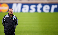 MARSEILLE, FRANCE - Monday, September 15, 2008: Liverpool's manager Rafael Benitez during training ahead of the opening UEFA Champions League Group D match against Olympique de Marseille at Stade Velodrome. (Photo by David Rawcliffe/Propaganda)