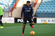 Portsmouth defender Nathan Thompson (20) as he warms up for the EFL Sky Bet League 1 match between Scunthorpe United and Portsmouth at Glanford Park, Scunthorpe, England on 24 November 2018.
