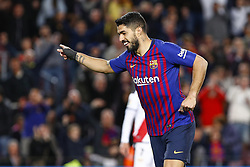 March 9, 2019 - Barcelona, Catalonia, Spain - FC Barcelona forward Luis Suarez (9) celebrates scoring the goal during the match FC Barcelona v Rayo Vallecano, for the round 27 of La Liga played at Camp Nou  on 9th March 2019 in Barcelona, Spain. (Credit Image: © Mikel Trigueros/NurPhoto via ZUMA Press)