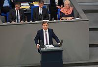 DEU, Deutschland, Germany, Berlin, 24.10.2017: AfD-Parlamentsgeschäftsführer Bernd Baumann bei der konstituierenden Sitzung des 19. Deutschen Bundestags mit Wahl des Bundestagspräsidenten.