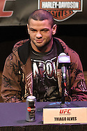 LAS VEGAS, NEVADA, JULY 9, 2009: Thiago Alves is pictured during the pre-fight press conference for UFC 100 inside the House of Blues in Las Vegas, Nevada