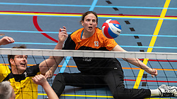 20-04-2019 NED: Dirk Kuyt Foundation Cup, Veenendaal<br /> National Cup sitting volleyball in Veenendaal / vv Apollo Mill vs. BVC Holyoke, Chaine Verhees-Staelens #13
