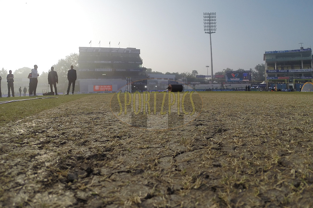 GV of the pitch during day two of the 4th Paytm Freedom Trophy Series Test Match between India and South Africa held at the Feroz Shah Kotla Stadium in Delhi, India on the 4th December 2015<br /> <br /> Photo by Ron Gaunt  / BCCI / SPORTZPICS