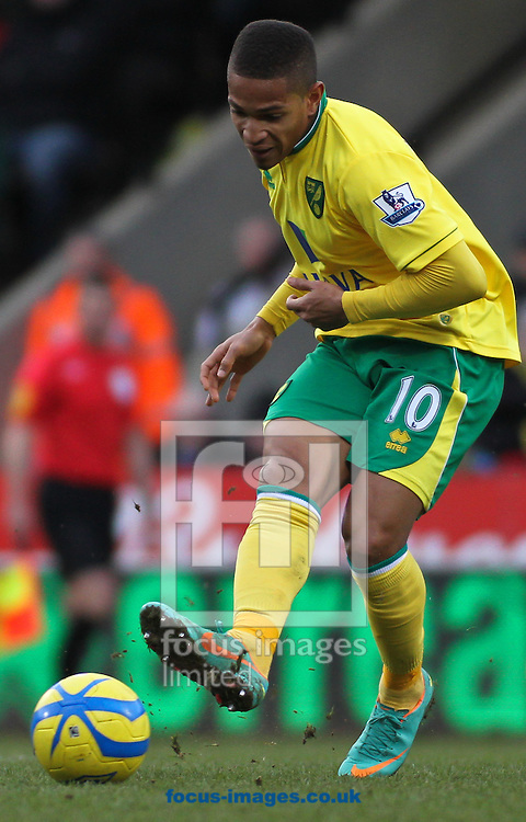 Picture by David Horn/Focus Images Ltd +44 7545 970036.26/01/2013.Simeon Jackson of Norwich City during the The FA Cup match at Carrow Road, Norwich.