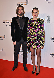 Dimitri Rassam and Charlotte Casiraghi arriving to the 43rd Annual Cesar Film Awards ceremony held at the Salle Pleyel in Paris, France on March 2nd, 2018. Photo by Berzane-Marechal-Wyters/ABACAPRESS.COM