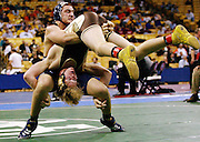 Windsor's Tim Waltenberger wrestles against Carthage's Austen Heidlage in the class 3 189lb. championship match at the State Wrestling Tournament. Heidlage defeated Waltenberger.