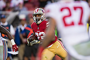 San Francisco 49ers running back Matt Breida (22) carries the ball against the New York Giants at Levi's Stadium in Santa Clara, Calif., on November 12, 2017. (Stan Olszewski/Special to S.F. Examiner)