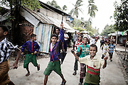 Aung Mingalar, the ghetto in the center of Sittwe , where a little more than 2,000 Muslims  still resist and live.<br />Sittwe, Myanmar July 2016 @Giulio Di Sturco