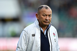 England Rugby Head Coach Eddie Jones looks on during the pre-match warm-up - Mandatory byline: Patrick Khachfe/JMP - 07966 386802 - 03/11/2018 - RUGBY UNION - Twickenham Stadium - London, England - England v South Africa - Quilter International