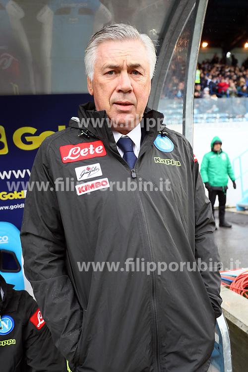"""Foto LaPresse/Filippo Rubin<br /> 12/05/2019 Ferrara (Italia)<br /> Sport Calcio<br /> Spal - Napoli - Campionato di calcio Serie A 2018/2019 - Stadio """"Paolo Mazza""""<br /> Nella foto: CARLO ANCELOTTI (ALLENATORE NAPOLI)<br /> <br /> Photo LaPresse/Filippo Rubin<br /> May 12, 2019 Ferrara (Italy)<br /> Sport Soccer<br /> Spal vs Napoli - Italian Football Championship League A 2018/2019 - """"Paolo Mazza"""" Stadium <br /> In the pic: CARLO ANCELOTTI (NAPOLI'S MANAGER)O"""