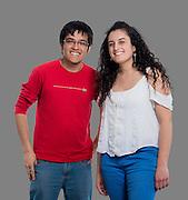Francesca Moller y Alberto Pincheira. Pontificia Universidad Católica de Chile. Campaña Interna Codigo de Honor. Santiago de Chile. 31-08-16 (©Alvaro de la Fuente/Triple.cl)