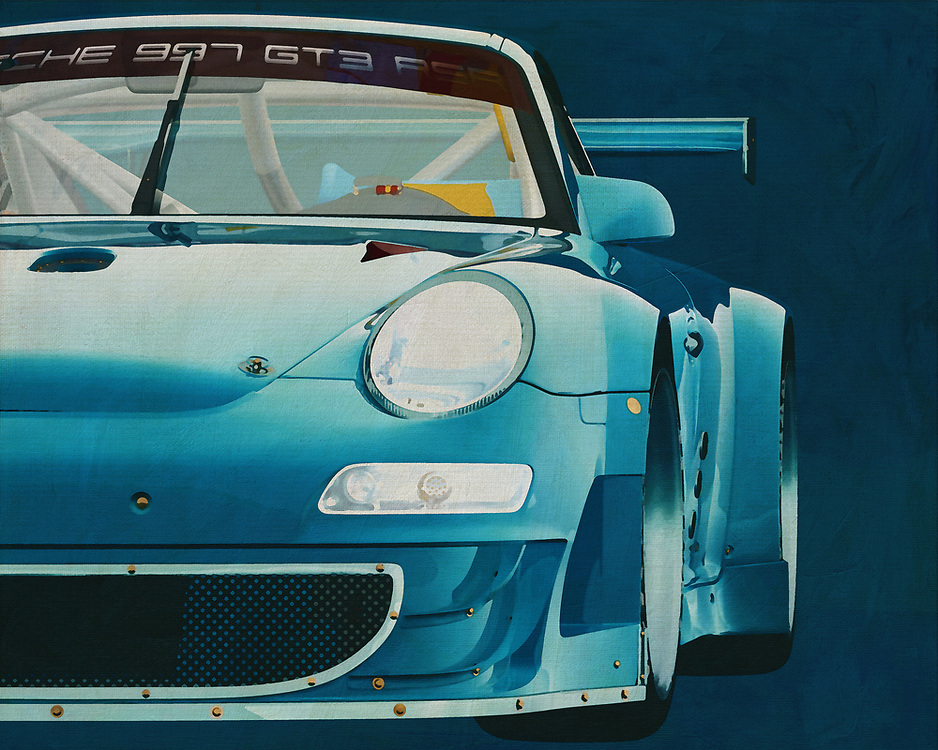 Porsche GT3 RS<br /> A detail painting of a Porsche GT3. The Porsche GT2 and GT3 are racing versions of a Porsche 911.  <br /> This Porsche racing car brings the atmosphere of a race track into your home or office and with Porsche enthusiasts the heart will melt. -<br /> <br /> BUY THIS PRINT AT<br /> <br /> FINE ART AMERICA<br /> ENGLISH<br /> https://janke.pixels.com/featured/porsche-gt3-rs-detail-jan-keteleer.html<br /> <br /> WADM / OH MY PRINTS<br /> DUTCH / FRENCH / GERMAN<br /> https://www.werkaandemuur.nl/nl/shopwerk/Porsche-GT3-RS-Cup-2008-voorzijde/571995/132