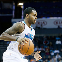 03 November 2015: Charlotte Hornets guard Troy Daniels (30) brings the ball up court during the Charlotte Hornets  130-105 victory over the Chicago Bulls, at the Time Warner Cable Arena, in Charlotte, North Carolina, USA.