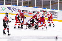 2020-01-19 | Umeå, Sweden:Teg (30) Joakim Andersson like a wall in AllEttan during the game  between Teg and Vallentuna at A3 Arena ( Photo by: Michael Lundström | Swe Press Photo )<br /> <br /> Keywords: Umeå, Hockey, AllEttan, A3 Arena, Teg, Vallentuna, mltv200119