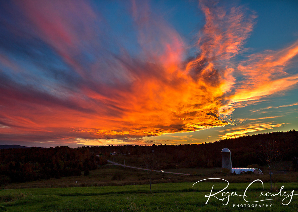 Sunset in East Montpelier Vermont Fall 2013