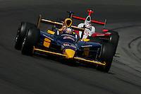 Patrick Carpentier and Ryan Briscoe at the Indianapolis Motor Speedway, Indianapolis 500, May 29, 2005