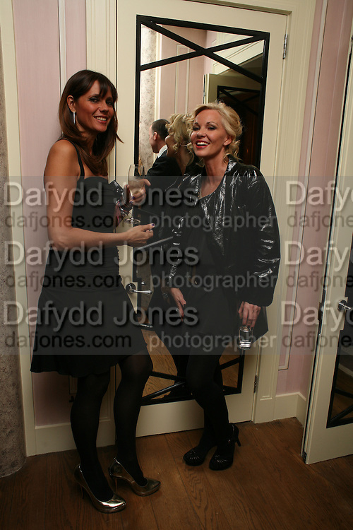 DEBBIE VON BISMARCK AND AMANDA ELLIASCH, Dinner hosted by Elizabeth Saltzman for Donatella Versace. Claridge's Hotel, Brook Street, Mayfair, London. 11 March 2008.  *** Local Caption *** -DO NOT ARCHIVE-© Copyright Photograph by Dafydd Jones. 248 Clapham Rd. London SW9 0PZ. Tel 0207 820 0771. www.dafjones.com.