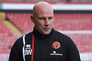 Walsall manager Jon Whitney during the EFL Sky Bet League 1 match between Walsall and Plymouth Argyle at the Banks's Stadium, Walsall, England on 2 September 2017. Photo by Alan Franklin.