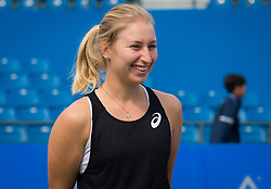 September 23, 2018 - Daria Gavrilova of Australia meets ball kids at the 2018 Dongfeng Motor Wuhan Open WTA Premier 5 tennis tournament (Credit Image: © AFP7 via ZUMA Wire)