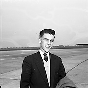23/05/1957<br /> 05/23/1957<br /> 23 May 1957<br /> F.A.I. Youths team for tour of Germany.<br /> Sylvester Nolan (Johnville)