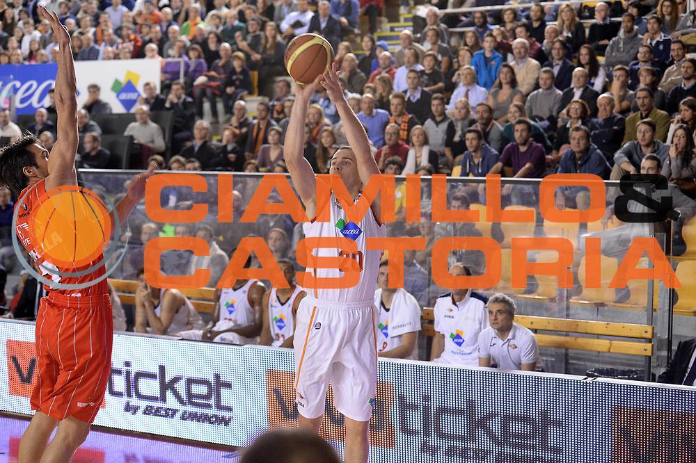 DESCRIZIONE : Roma Campionato Lega A 2013-14 Acea Virtus Roma EA7 Emporio Armani Milano <br /> GIOCATORE : Jimmy Baron<br /> CATEGORIA : Three Points<br /> SQUADRA : Acea Virtus Roma<br /> EVENTO : Campionato Lega A 2013-2014<br /> GARA : Acea Virtus Roma EA7 Emporio Armani Milano <br /> DATA : 02/12/2013<br /> SPORT : Pallacanestro<br /> AUTORE : Agenzia Ciamillo-Castoria/GiulioCiamillo<br /> Galleria : Lega Basket A 2013-2014<br /> Fotonotizia : Roma Campionato Lega A 2013-14 Acea Virtus Roma EA7 Emporio Armani Milano <br /> Predefinita :