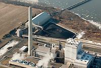 Aerial Logan Generating Plant Electric Utility Company,  Swedesboro, NJ