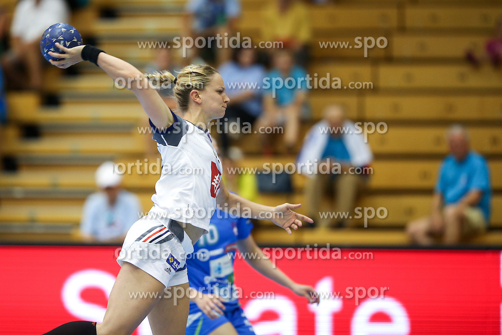 Manon Houette of France during handball match between National Teams of Slovenia and France in Qualification of 2015 Women's European Championship, on June 13th, in Rdeca Dvorana, Velenje. Photo by Morgan Kristan / Sportida