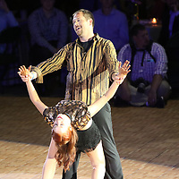 Jesse Brandre and professional dancer Tammy Wilson dance a cha cha Saturday at the Dancing Like the Stars event
