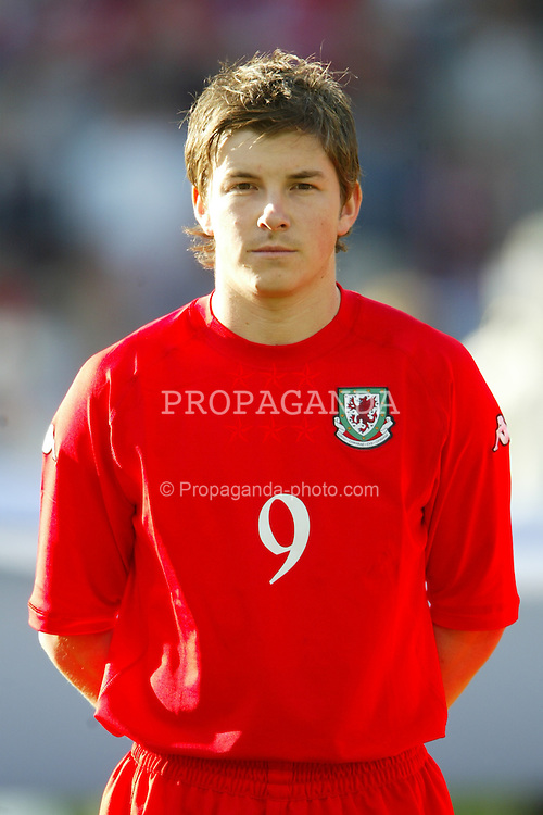 OSLO, NORWAY - Thursday, May 27, 2004:  Wales' John Oster pictured before the International Friendly match at the Ullevaal Stadium, Oslo, Norway. (Photo by David Rawcliffe/Propaganda)